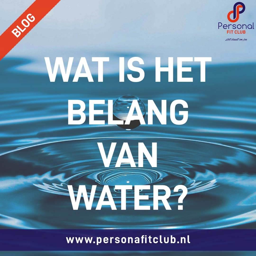 Personal Fit Club - Het belang van water web