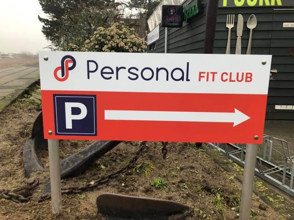 Personal Fit Club - Studio Leidschendam - Personal Training Leidschendam - Parkeerbord