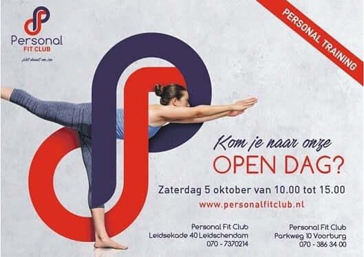 Personal Fit Club - open dag 5 oktober 2019