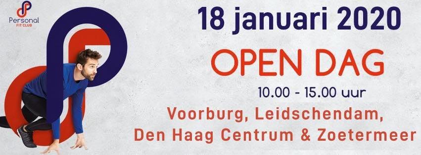Personal Fit Club - Open dag 18 januari 2020 - personal training studio Voorburg Leidschendam en Den Haag Centrum nieuw